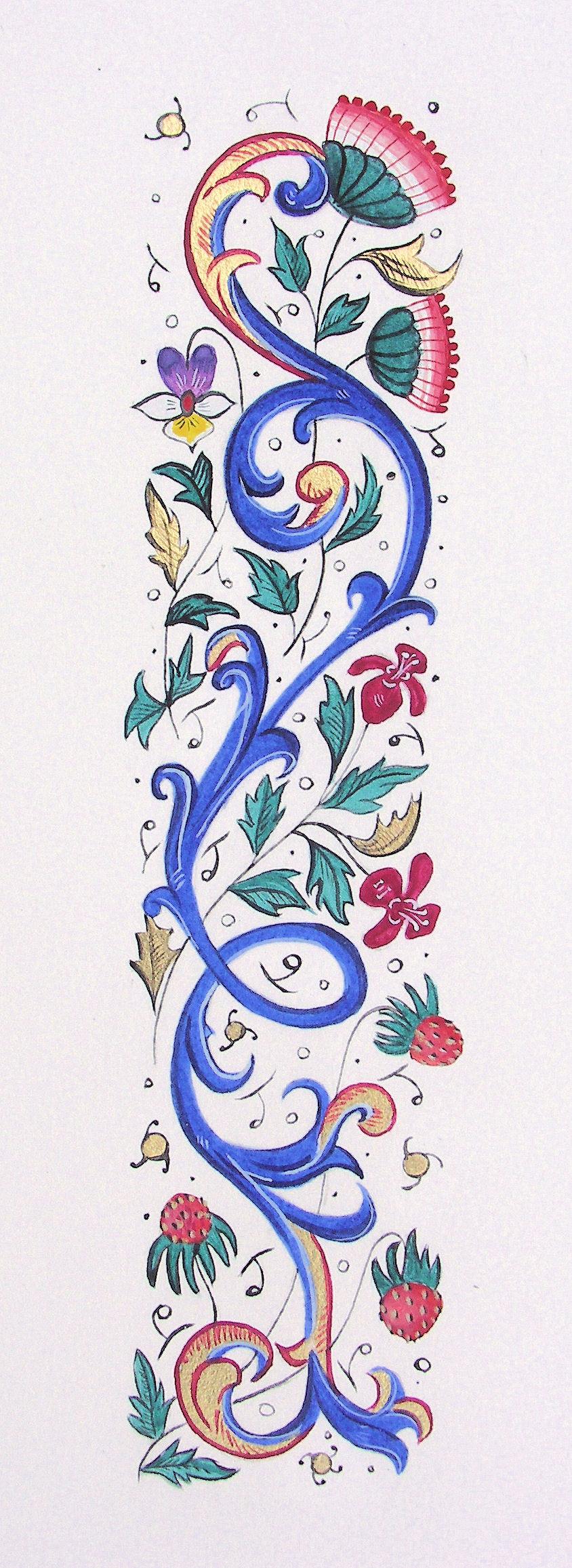 Mots en lumi re calligraphie et enluminure m di vale pau - Le salon du manuscrit ...